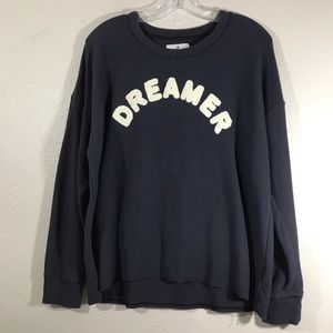 American Eagle sweatshirt textured lettering XL